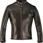 Classic Schott Racer Black Leather Motorcycle Jacket in Horsehide