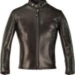 Classic Schott Racer Black Leather Motorcycle Jacket in Horsehide