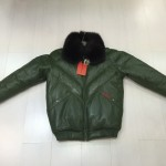 VINTAGE DOUBLE F.A.T. GOOSE 80'S GREEN WITH FOX COLLAR