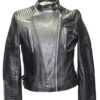 Lambskin Black Ladies Quilt design Jacket