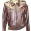 Knoles & Carter Women Brown Genuine Leather Jacket