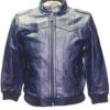 Knoles & Carter Women Blue Genuine Leather Jacket