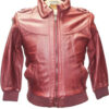 Knoles & Carter Women Burgundy Genuine Leather Jacket