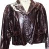 RETRO PATTERN FOUR BUTTONED OFFICIAL LEATHER BLAZER