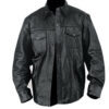 Men Lambskin Leather Shirt