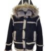 "Men's ""Marlboro"" Shearling Coat Hooded"