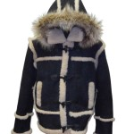 "Men's ""Marlboro"" Shearling Coat Hooded"