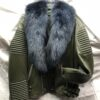 Men: Moto Leather Jacket with Fox Fur