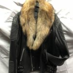 MEN: Moto Leather Jacket with Real Raccoon Fur