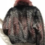 Women's Mink Fur Bomber Jacket with Fox Fur Collar