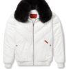 Goose Country V-Bomber: White Leather