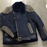 Nave Blue Napa Racing Shearling Jacket