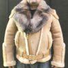Tonka Sheepskin Biker with Crystal Fox Fur Collar