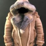 Tonka Sheepskin Biker with Crystal Fox Fur with Hooded