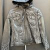 WOMEN LEATHER JACKET WITH HOODY