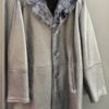 MEN SHEARLING- 3/4 SINGLE BUTTON STYLE SHEEPSKIN WITH BLACK MINK COLLAR