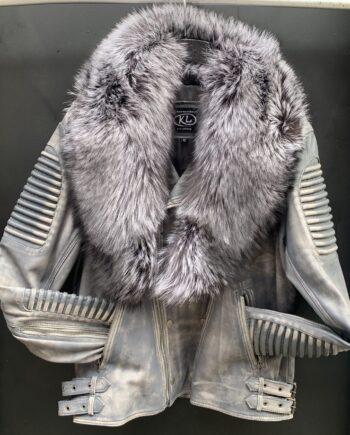 Gray Biker Jacket