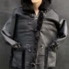MEN SHEARLING- 7/8 BLACK WITH BLACK WITH HOOD