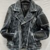 Men Waxed Biker Jacket