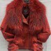 Women Waxed Biker Jackets with Fur